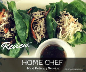 Review of Home Chef, meal delivery based service.