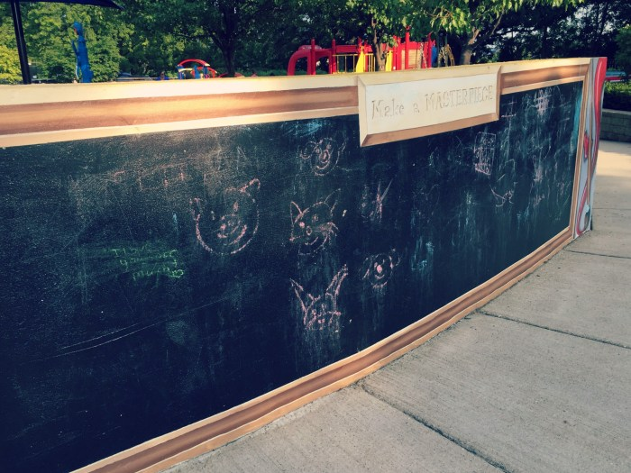 Discovery Zone Deicke Park Huntley - Chalkboard Wall