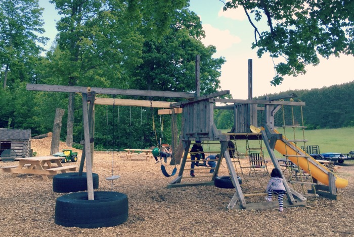 Road to Ludington Michigan - Pond Hill Farm Playground