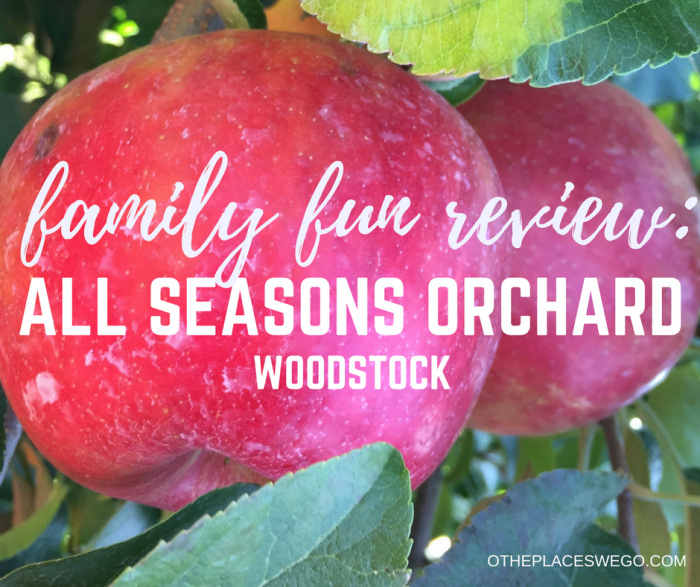 Family fun at All Seasons Orchard in Woodstock. Apple picking, wagon ride, fun fall activities, and awesome apple cider donuts!
