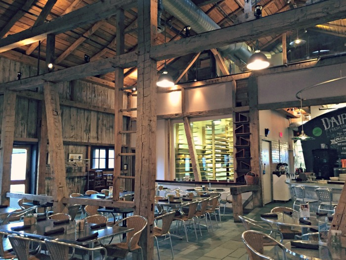 Family Fun in Indiana including food at Trader's Point Creamery, farm to table organic food.