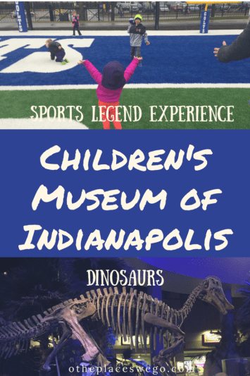 Family fun at The Children's Museum of Indianapolis including their newest and largest expansion, Sports Legend Experience and of course, Dino Sphere.