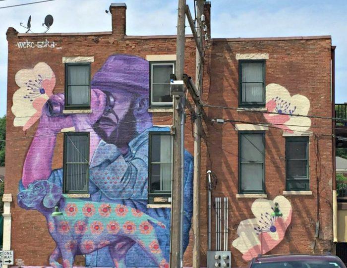 Amazing street art in Dubuque, Iowa.