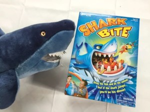 Playing Shark Bite, the latest game from Goliath Games and Pressman Toys.