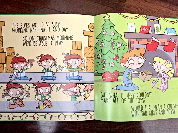 One of our favorite holiday books - A Bag for Santa by Kendra Esbrook shows how kids are giving instead of receiving.