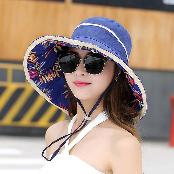 Women Summer UV Protection Gardening Hat Beach Outdoor Sunscreen Visor Sun Cap