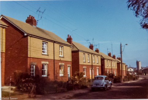 Cocker Avenue and in the distance - the Tower (1974)