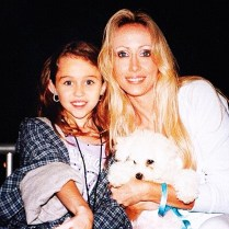 """Miley Cyrus posted a pic of vintage Miley before it all and the wrecking ball and sent a shout out to her mom by expressing: """"Happy Mother's Day mama @tishcyrus"""