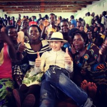 """""""Thinking of all the amazing Mothers. In the world working to build better lives! Happy Mothers Day!#rayoflight #raisingmalawi #revolutionoflove """" -Madonna"""