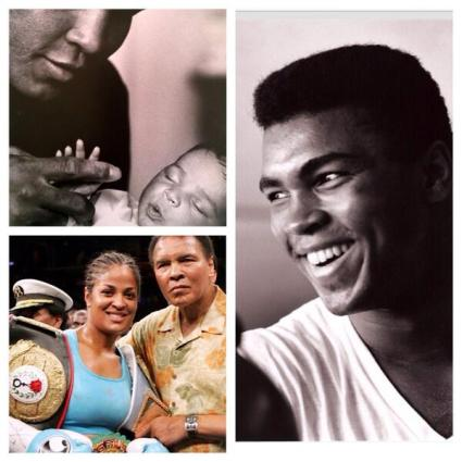 Laila Ali shared some love of she and boxing champion Muhammad Ali