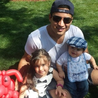 Mario Lopez shared some daddy's day love of he and his spawn adorable-ness: Gia nd Dominic