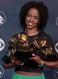 Lauryn Hill Grammys in Hand