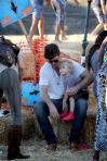 Robin Thicke takes his son Julian for a day of Halloween fun at Mr. Bones Pumpkin Patch