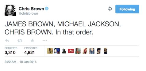 Chris Brown Tweet