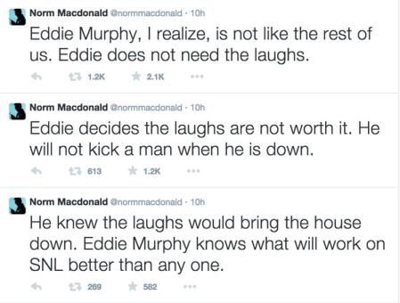 NormMcDonal on Eddie Murphy