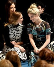 Olivia Palermo and Dianna Agron Mercedes Benz NYFW Credit_Larry Busacca_Getty Images