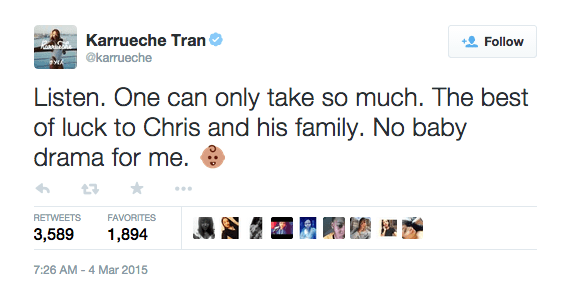 Karrueche-Tran-Tweets-on-Chris-Browns-Baby-Mama-Drama