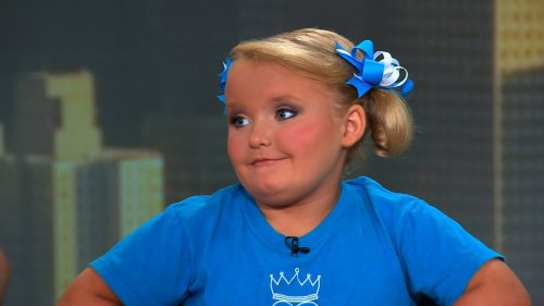 "Alana Thompson, better known to the world as Honey Boo Boo, on TLC's ""Toddlers & Tiaras"" appears on CNN's Starting Point August 7, 2012."