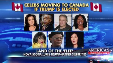 Celebrities Leaving Country If Trump