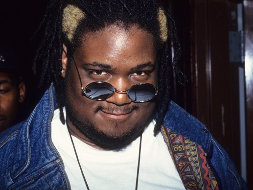 Prince Be (Attrell Cordes) of the music group P.M. Dawn smiles while at Club USA in New York City, 1993. (Photo by Steve Eichner/Getty Images)