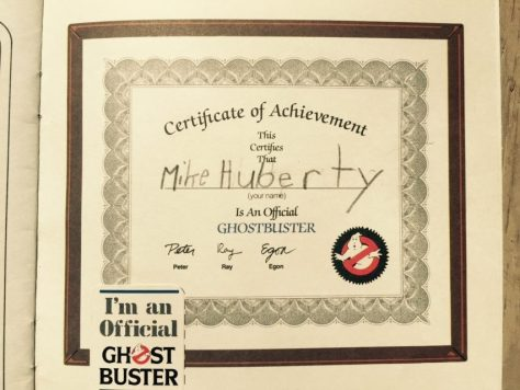 official. ghosbusters. certificate