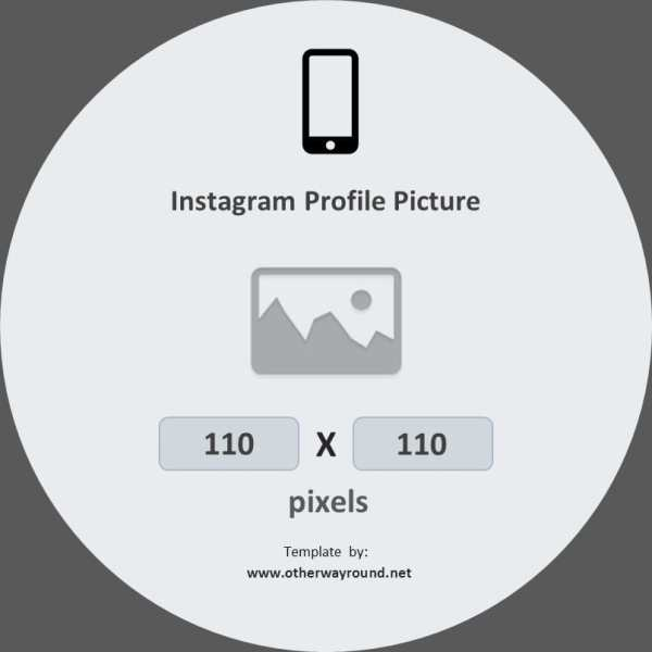 Instagram Profile Picture Size (In Pixels and inches ...