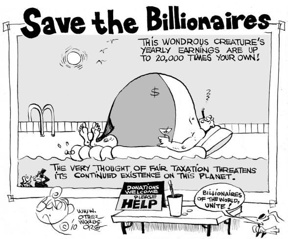 Save the Billionaires cartoon