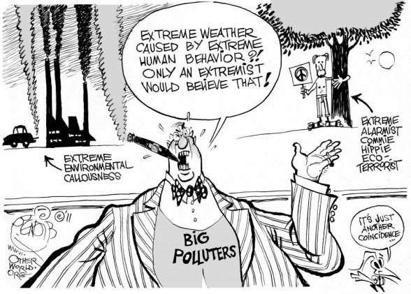 Weather Extremists cartoon