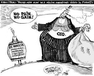 Poverty News, an OtherWords cartoon by Khalil Bendib
