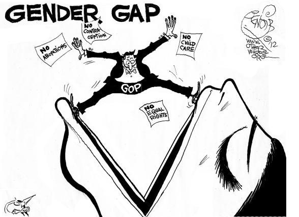 Gender Gap cartoon
