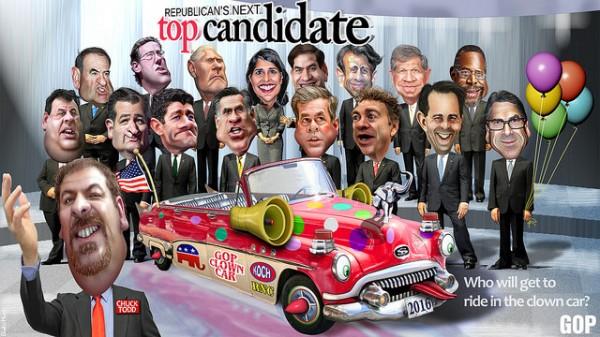 GOP Candidate Clown Car