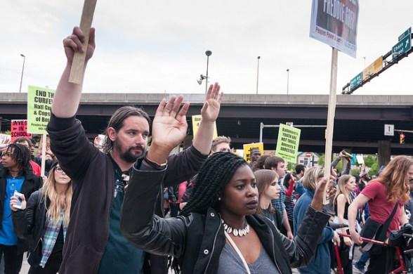 Peaceful Protestors in Baltimore