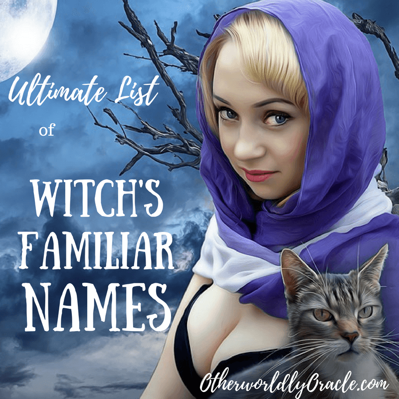 Witch Familiar Names inspired by nature, deities, fairy tales, and history