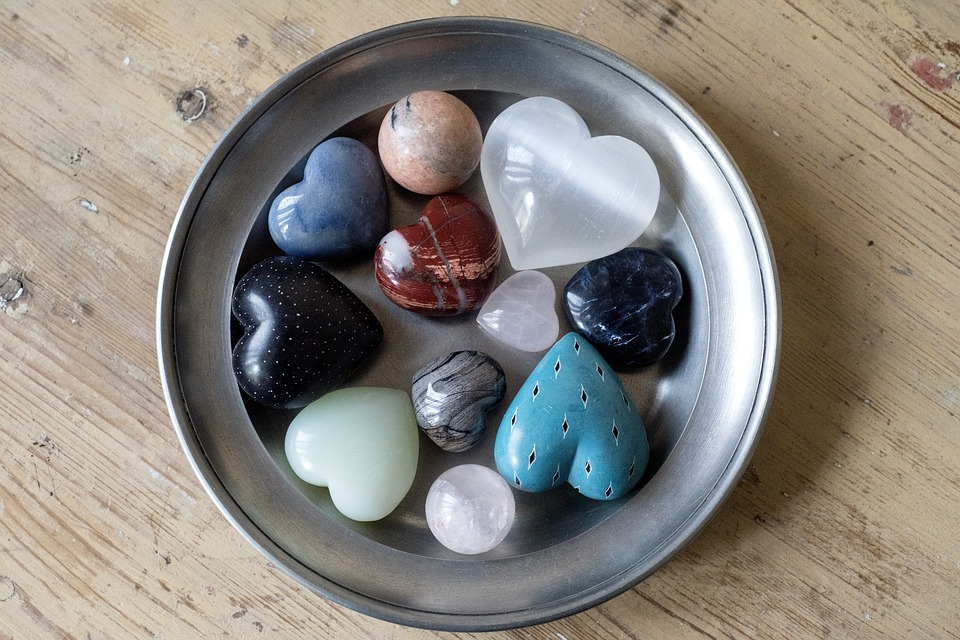 Cleanse crystals in the 4 elements or sunlight or moonlight.