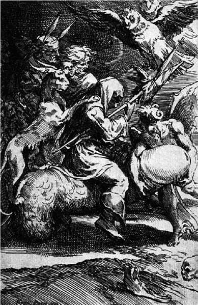 American witches were initiated in various ways but always by the Devil himself.