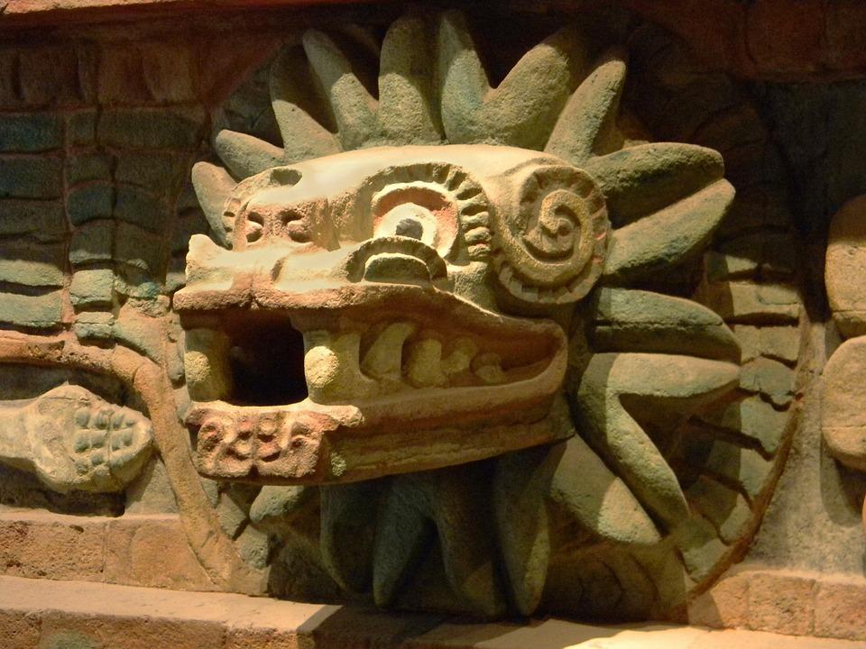 The Aztec god Quetzalcoatl, Feathered Serpent