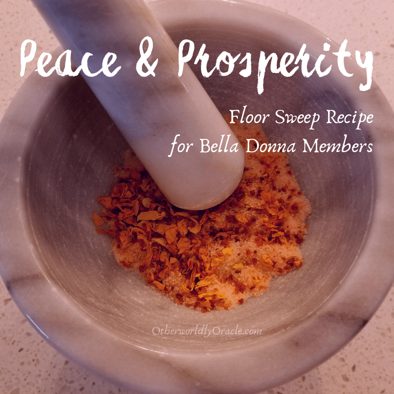 Peace and Prosperity Floor Sweep for Bella Donna Members Only