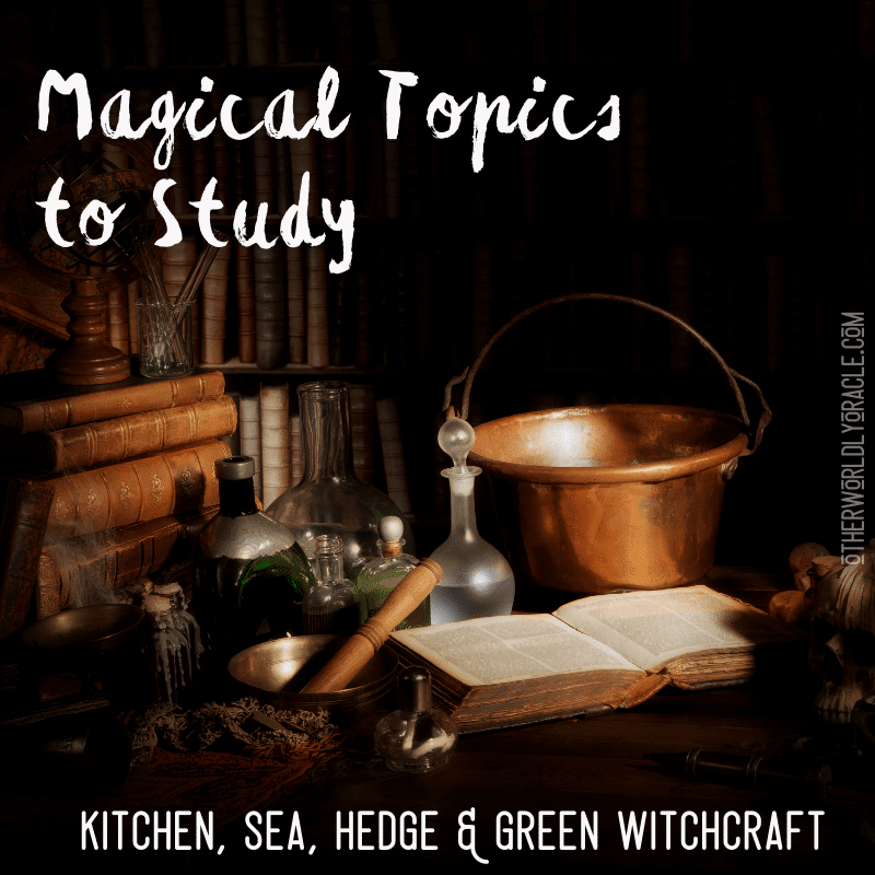 Magical Topics to Study by Type of Witchcraft: Green, Sea, Hedge