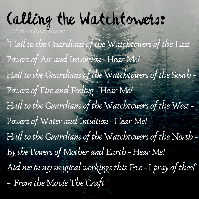 Elementals and Guardians of the Watchtowers