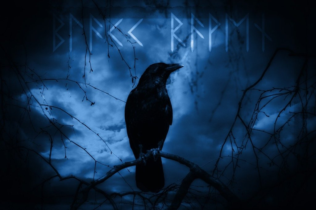 Odin the Allfather has two ravens who report to him with news: Huginn and Muninn