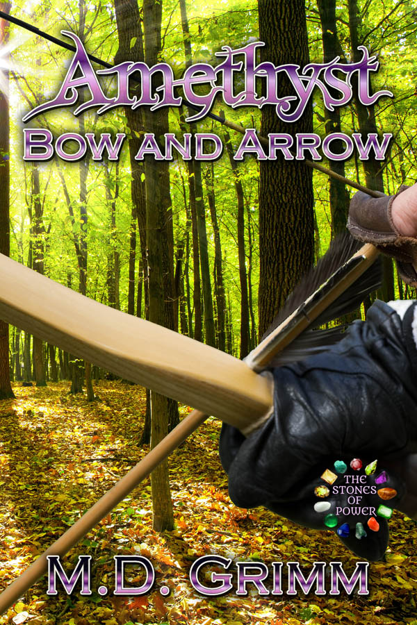 Amethyst Bow and Arrow - The Stones of Power series