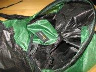 Der geöffnete Rucksack.