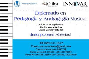 Diplomado en Pedagogía y Andragogía Musical 25 de septiembre 2015 con aval de #Unimar @Somosinnovar @Otilca