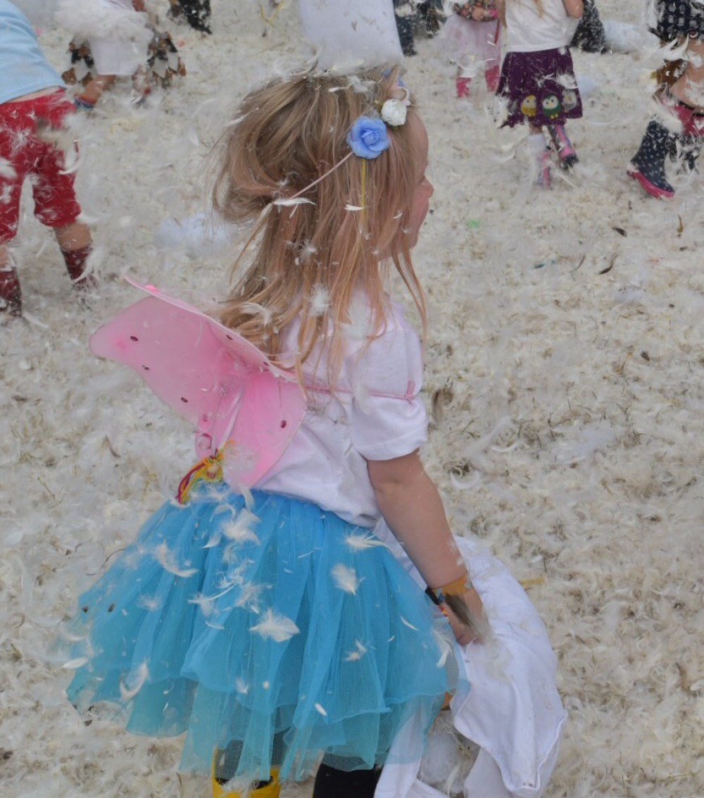 festival tips with kids, take fancy dress and pillows