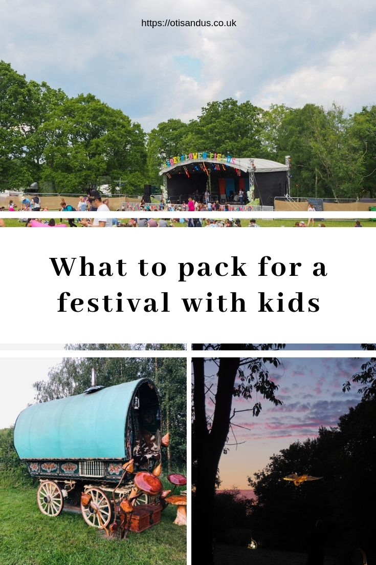 what to pack for a festival with kids