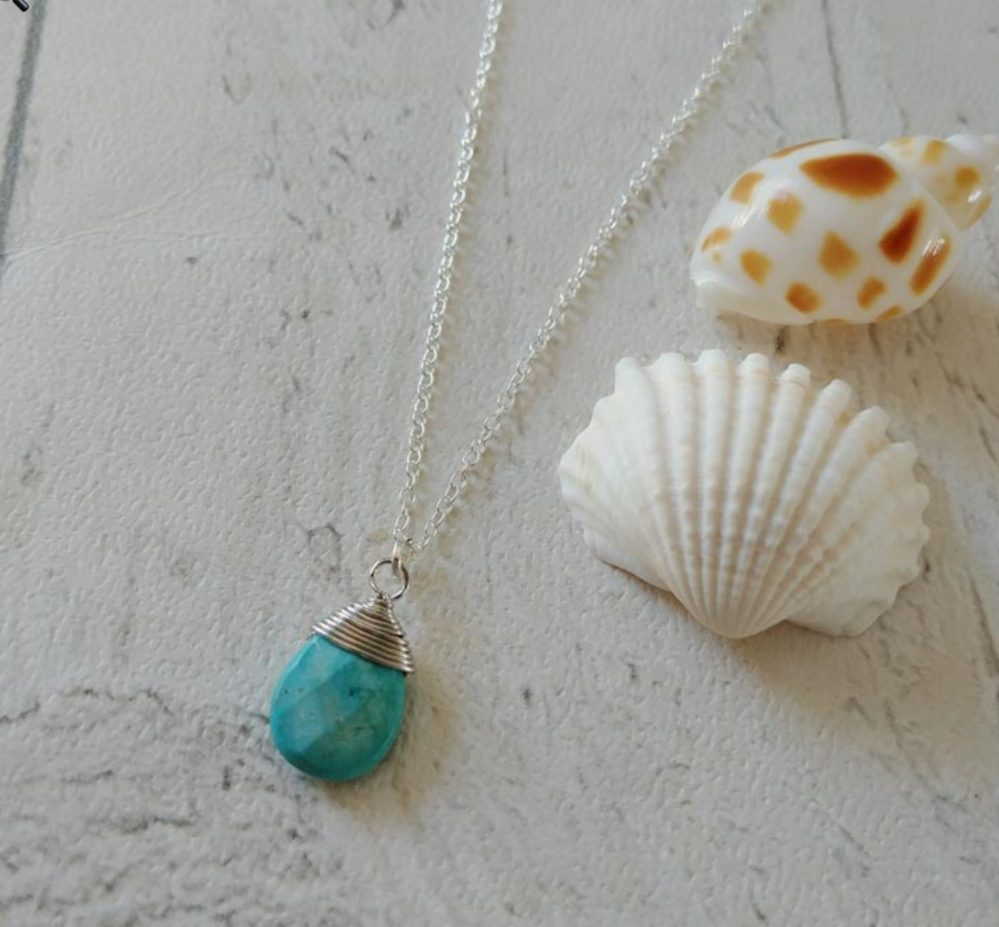 beautiful sea themed jewellery gorgeous turquoise pendant necklace
