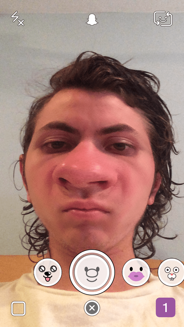 big nose snapchat lens
