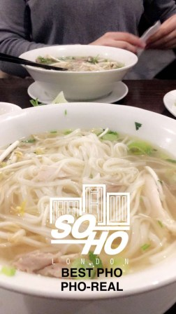 Pho from a lil place called VietPho. Loved it and it was fairly inexpensive.. like 7.5 pounds