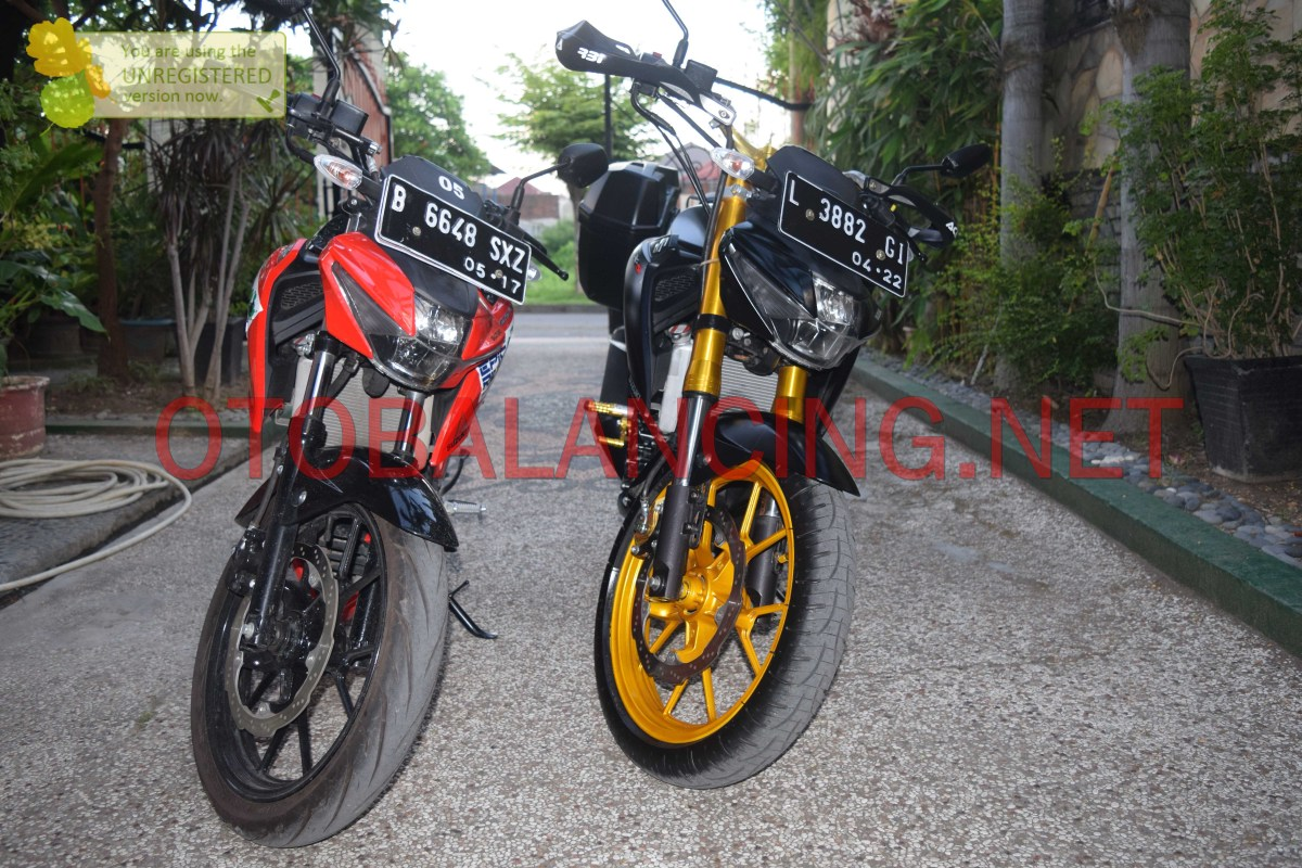 Modifikasi Suzuki GSX-S150 Touring, Pakai USD 41mm Makin Kekar...!!!