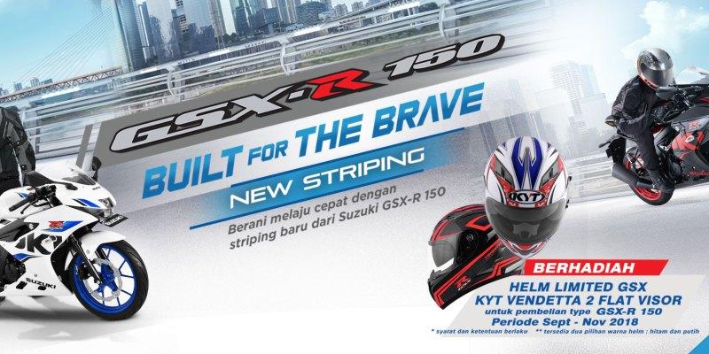 Beli Suzuki GSX-R150 Bisa Dapat Helm Keren